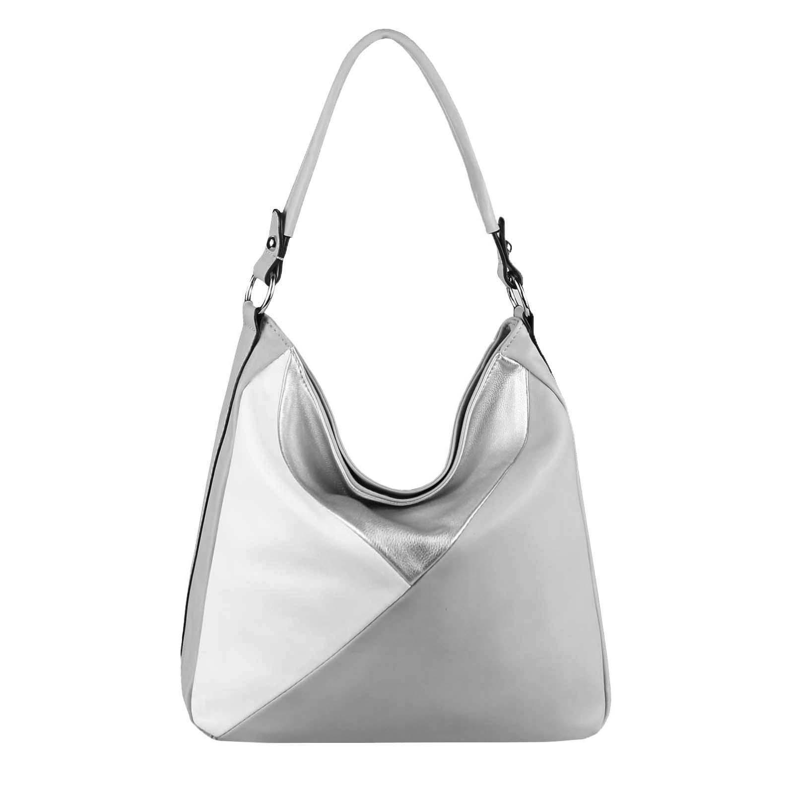 DAMEN TASCHE XXL Metallic Shopper Hobo Bag Umhängetasche