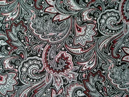 Black White Red Paisley Desktop Nexus Wallpapers Paisley Tattoo Paisley Fabric Black And Grey Tattoos