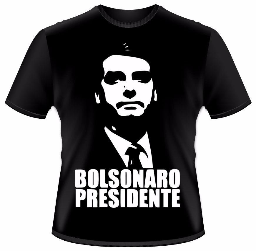 camiseta bolsonaro presidente - preta - vários tamanhos  ac5b3591640