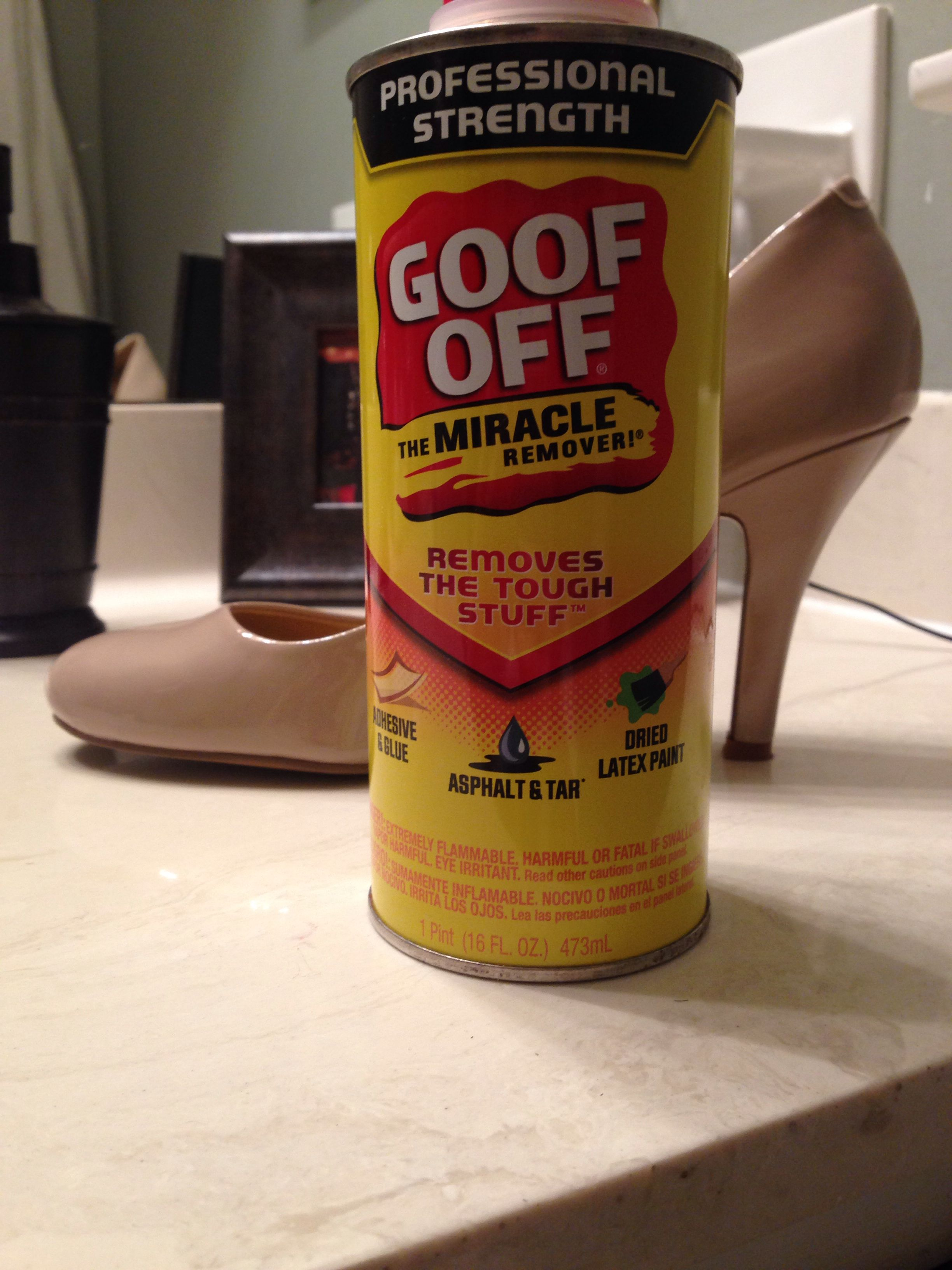 Finally Found Something That Works To Remove Scuff Marks From Patent Leather Shoes Goof Off Worked Like A Cha Patent Leather Shoes Goof Off Snapple Tea Bottle