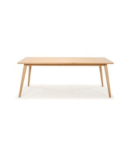 Logan, Retro Dining, Rectangle Table Large, Oak Legs