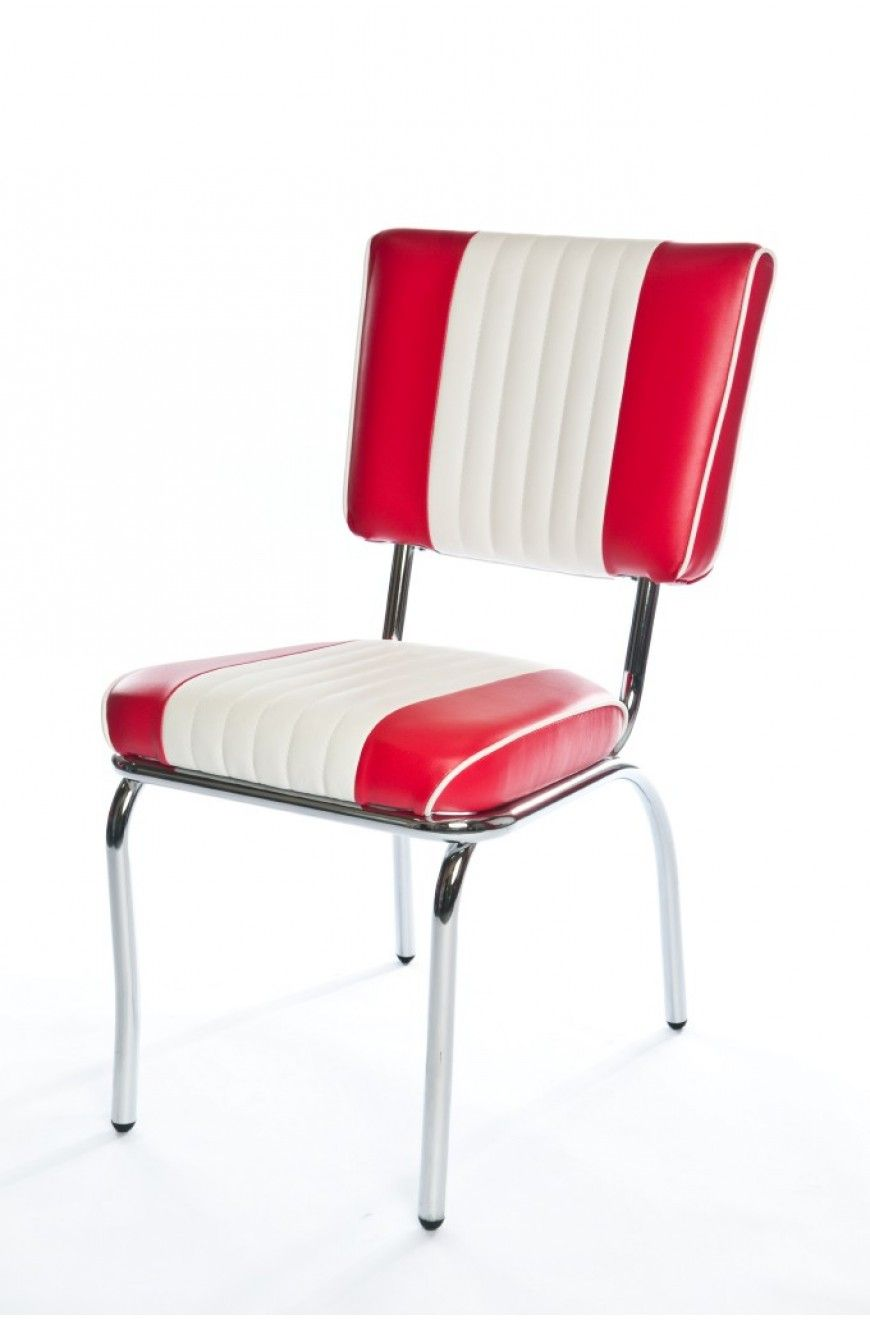 Lexington Classic Retro Chair In American Beauty Red And White