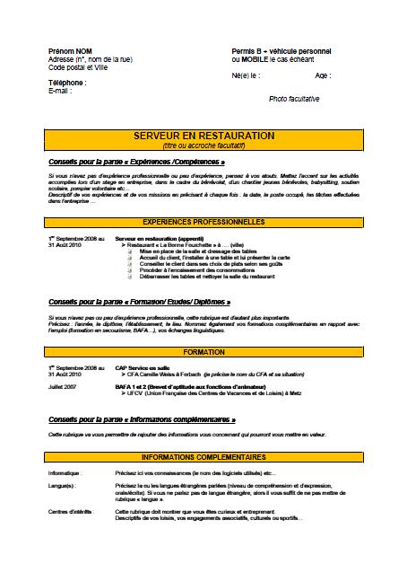 modele cv pour contrat d apprentissage