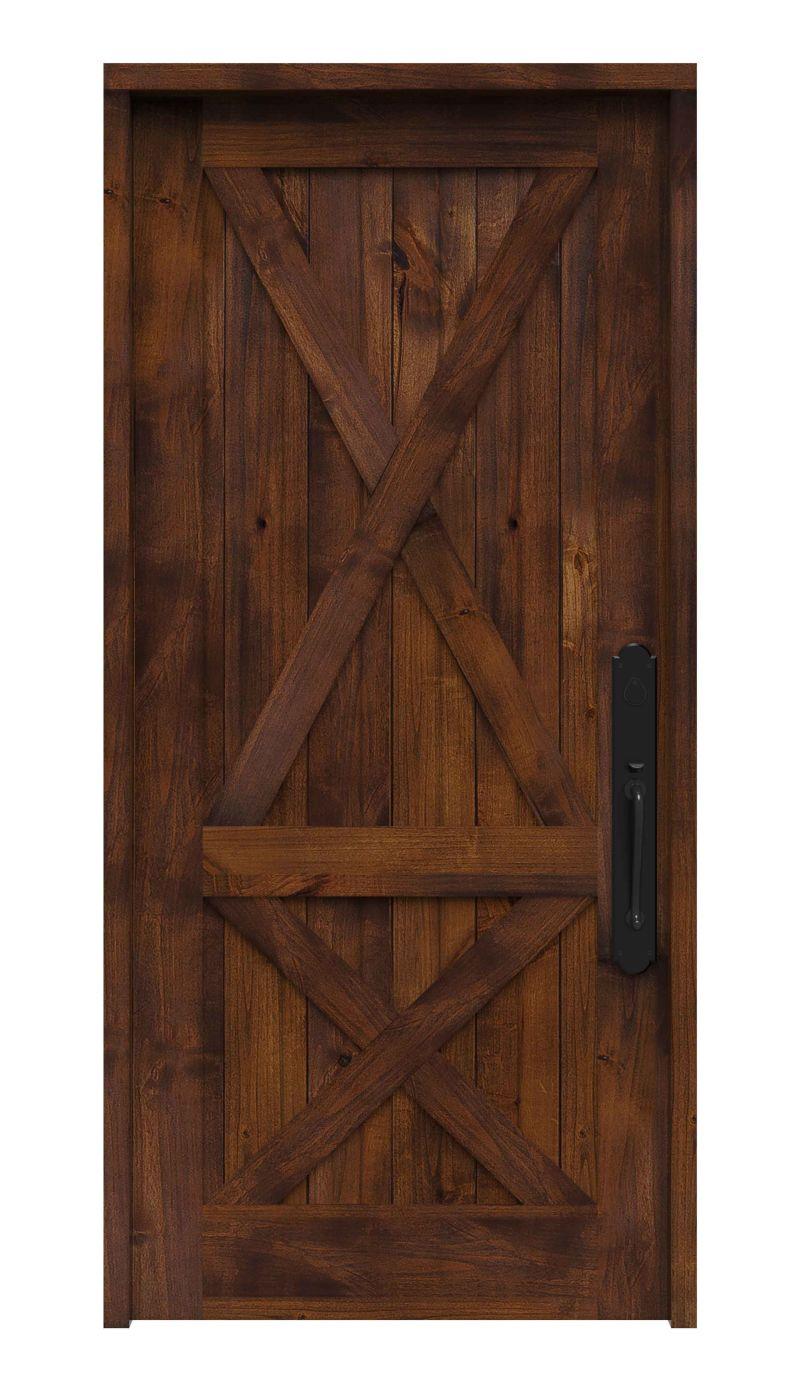 Double Crossbuck Front Entry Door Rustica In 2020 Wood Front Entry Doors Entry Doors Front Entry Doors