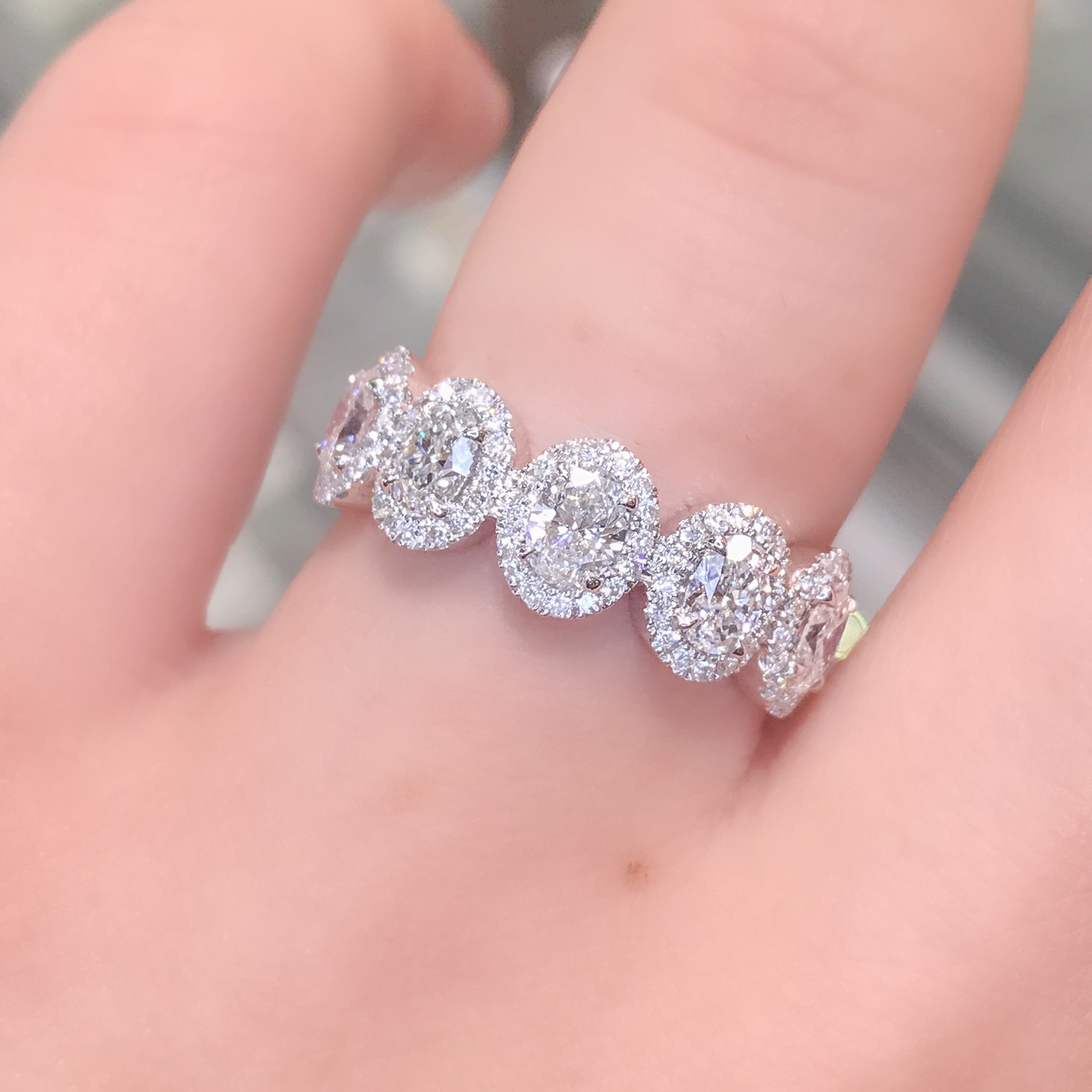 The Alexis diamond ring made with Oval diamonds set in our seamless ...