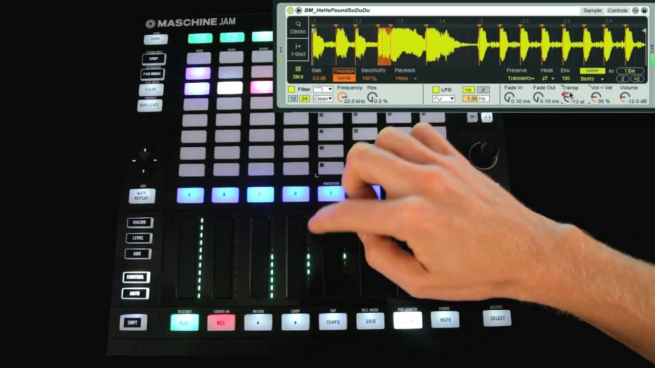 using maschine jam with ableton live controller template demo lucy the producer in 2019. Black Bedroom Furniture Sets. Home Design Ideas