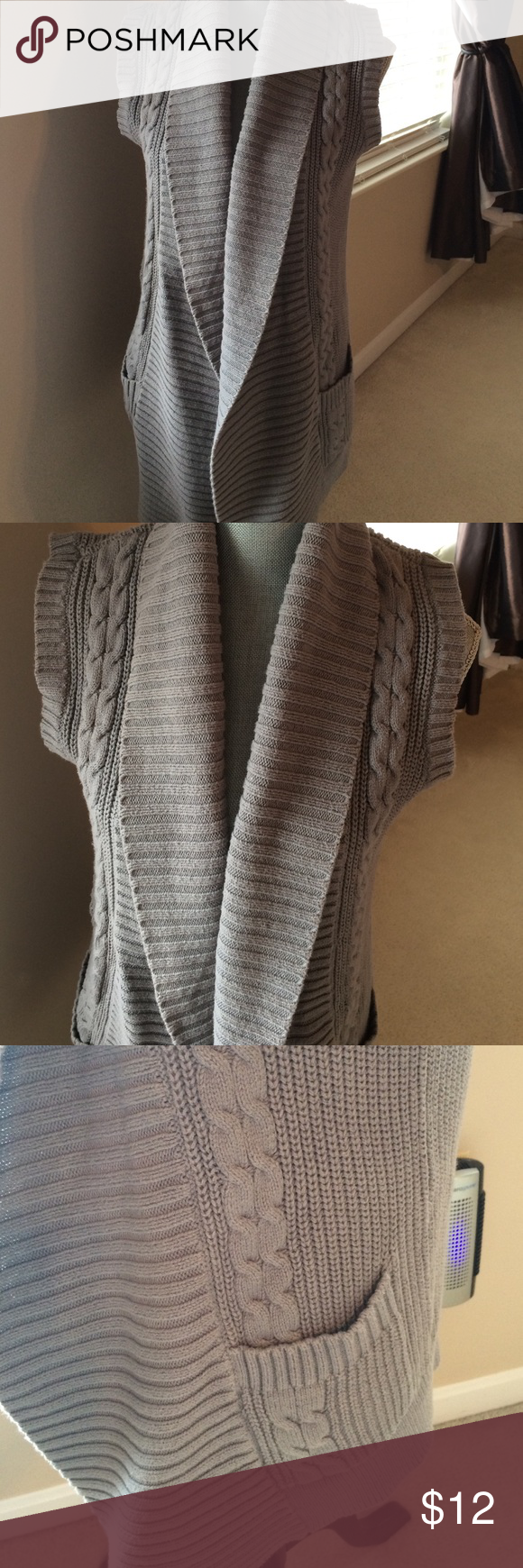 Cowl neck sweater vest Comfy cowl neck sweater vest with pockets ...