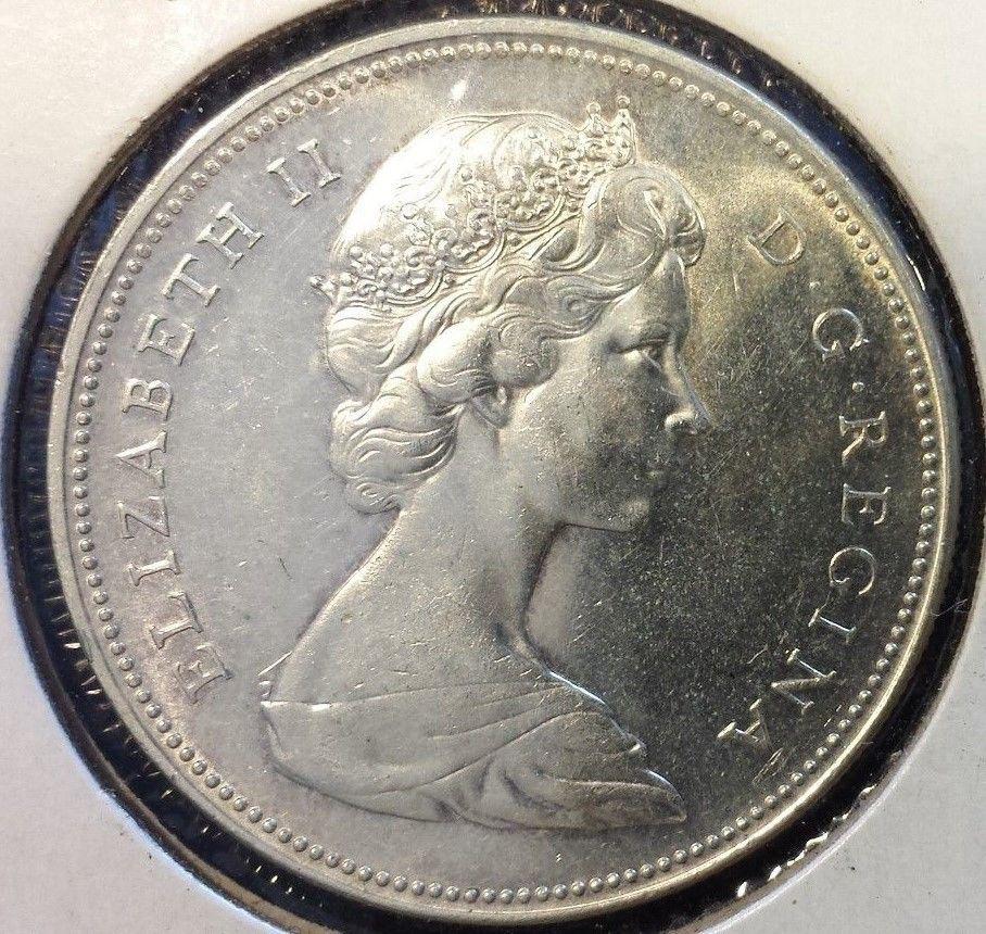 1966 1 Canada Silver Dollar Queen Elizabeth Coin Amazing Argent Money Sharp Ebay Dollar Coins