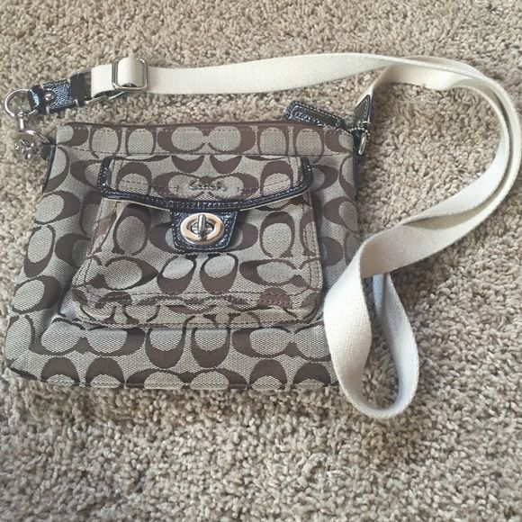 """Coach shoulder bag Coach shoulder bag.  9"""" X 7.5"""".  Small pocket in front.  Strap is 46"""" long.  *not authentic coach* Coach Bags Crossbody Bags"""