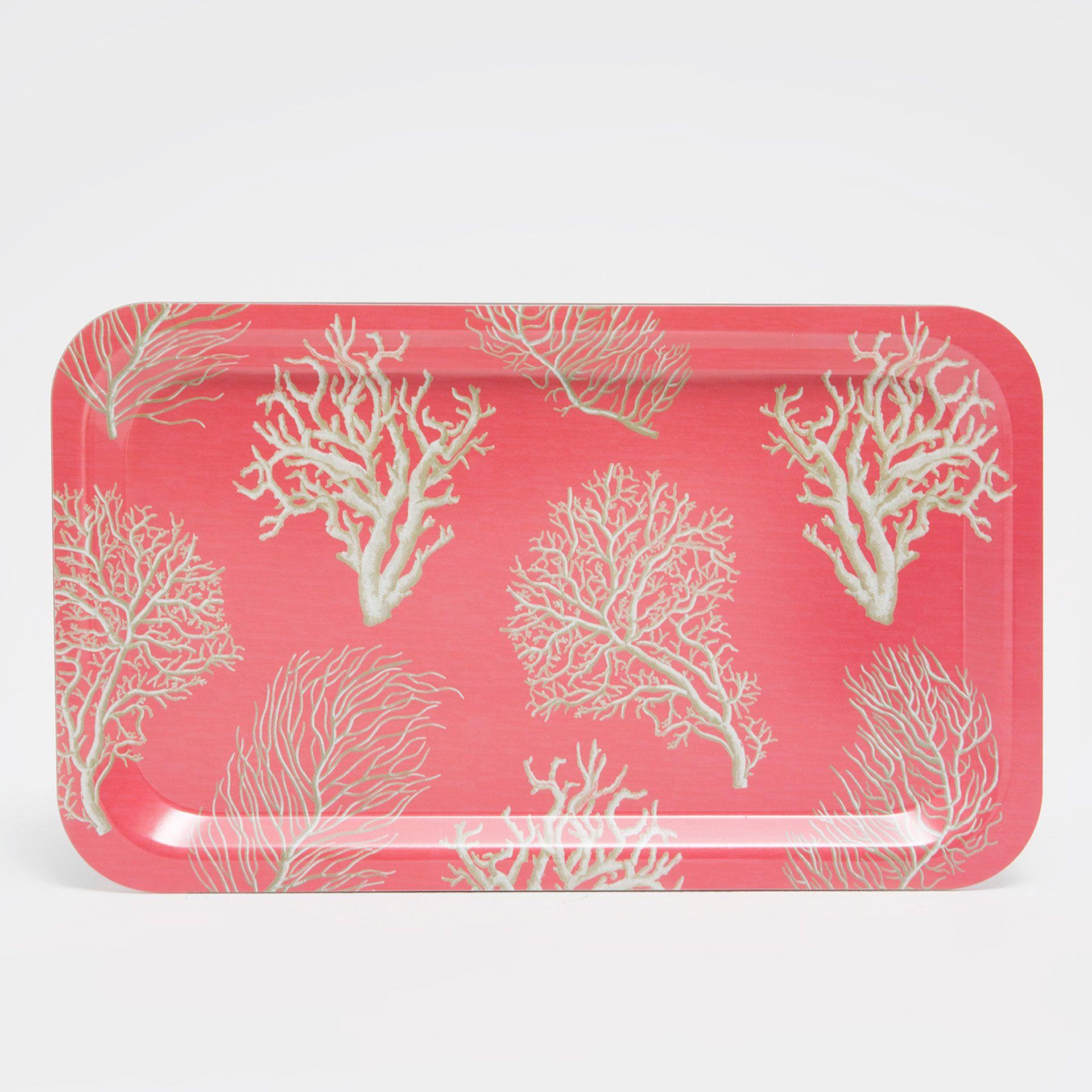 Bild 2 des Produktes Tablett mit Korallenprint | Decoration ...