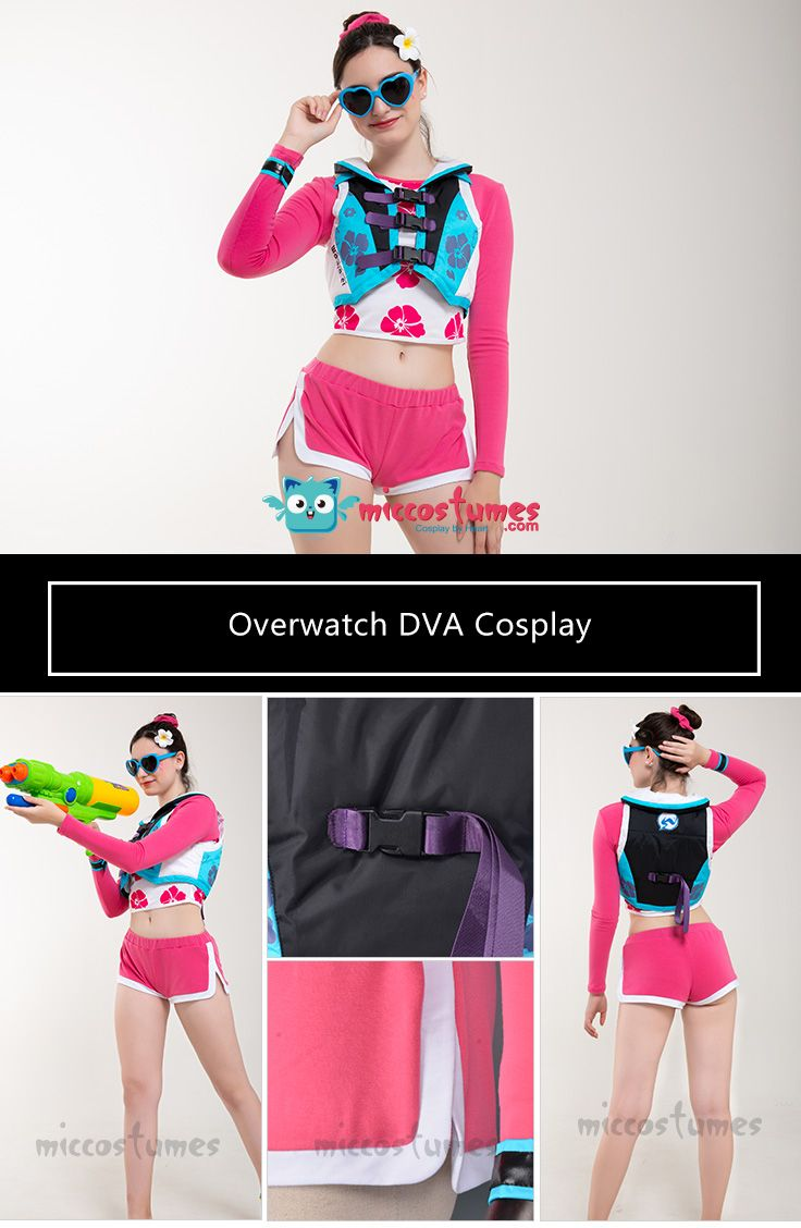 D.Va Legendary Skin Overwatch 2018 Summer Games Cosplay Costume