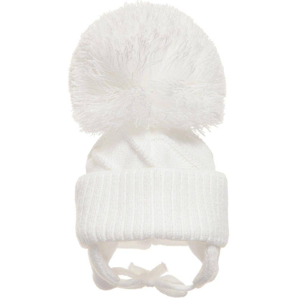 6a54bc640b0 Satila of Sweden Unisex White Knitted  Jim  Hat at Childrensalon.com