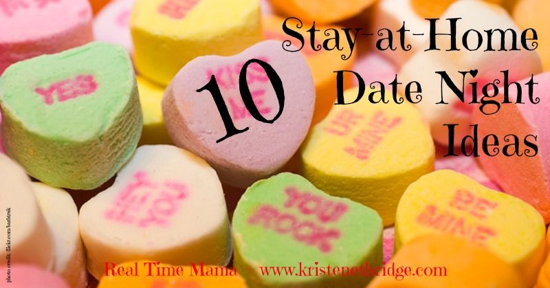 Valentine's Day is coming up, but you can still have a great romantic evening without breaking the bank or getting a babysitter!