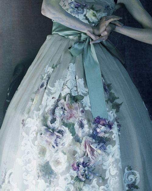 Edie Campbell wears Dolce & Gabbana Alta Moda by Tim Walker
