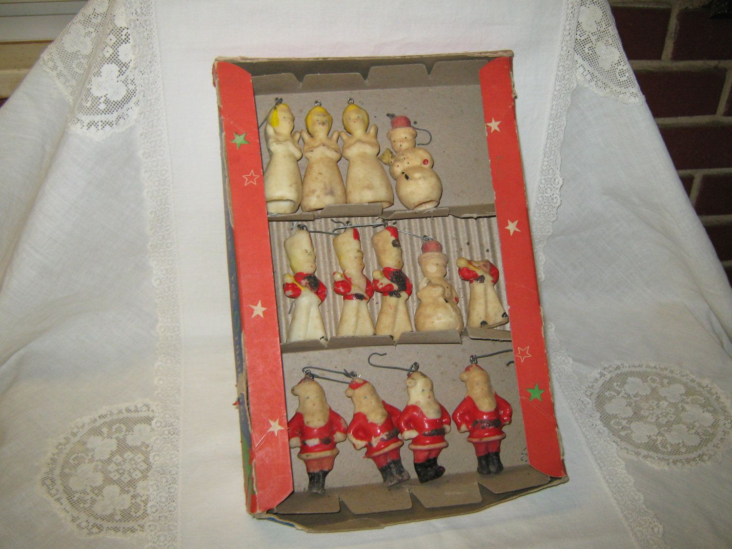 Tavern Candle Wax Christmas Ornaments