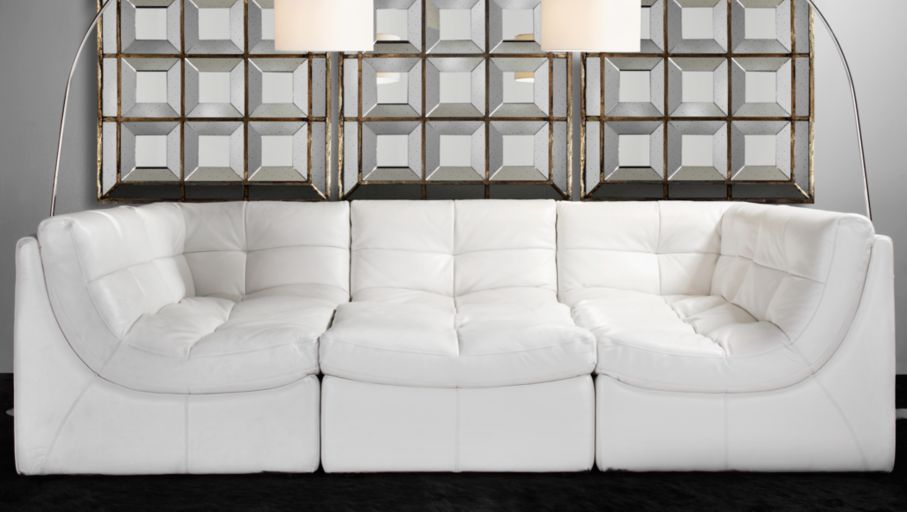 Cloud Modular Sectional White Modern Menagerie Living Room Inspiration Z Gallerie