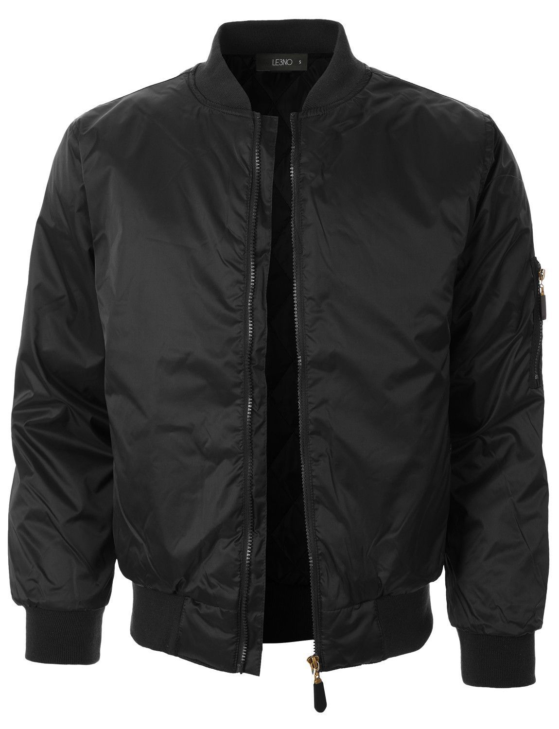 c3ba01cda Mens Lightweight Classic Zip Up Bomber Jacket with Pockets | Buyable ...