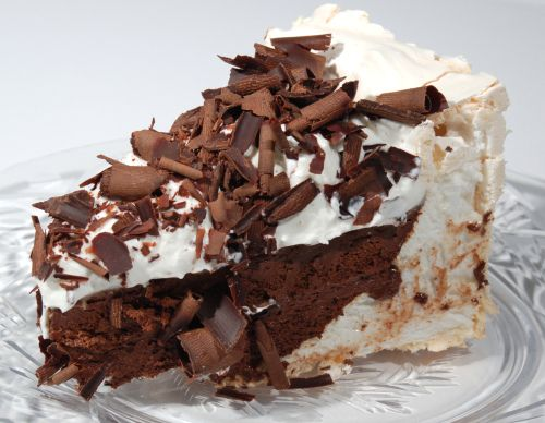 Chocolate Angel Pie by unconfidentialcook: Chocolate, espresso, Kahlua filling with a meringue crust. #Pie #Chocolate_Angel #GF