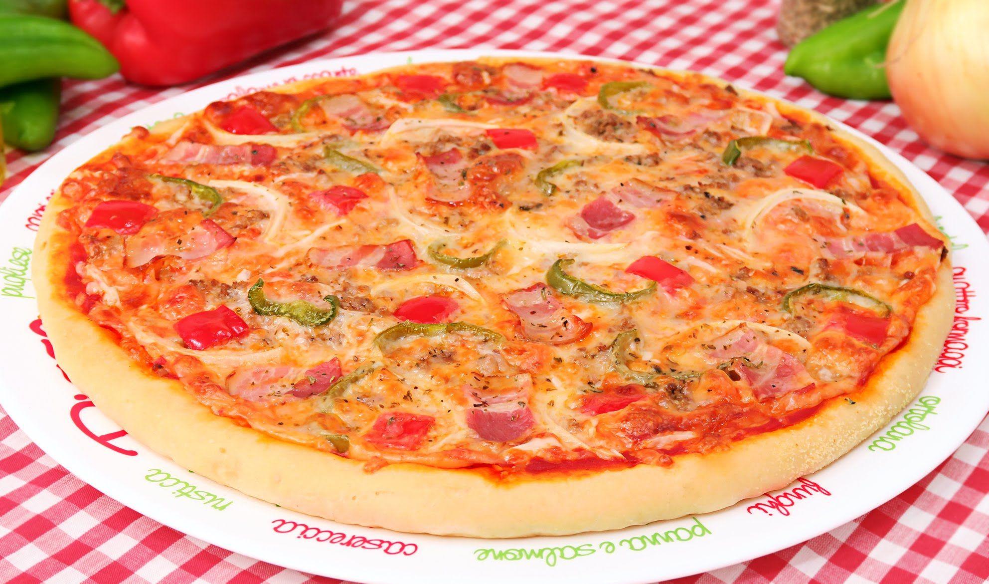 Pizza Casera Estilo Especial De La Casa Telepizza Pizza Casera Pizza Hut Recetas De Pizza