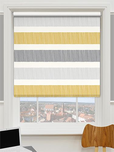 Choices Cardigan Stripe Flax Grey Roller Blind From Blinds