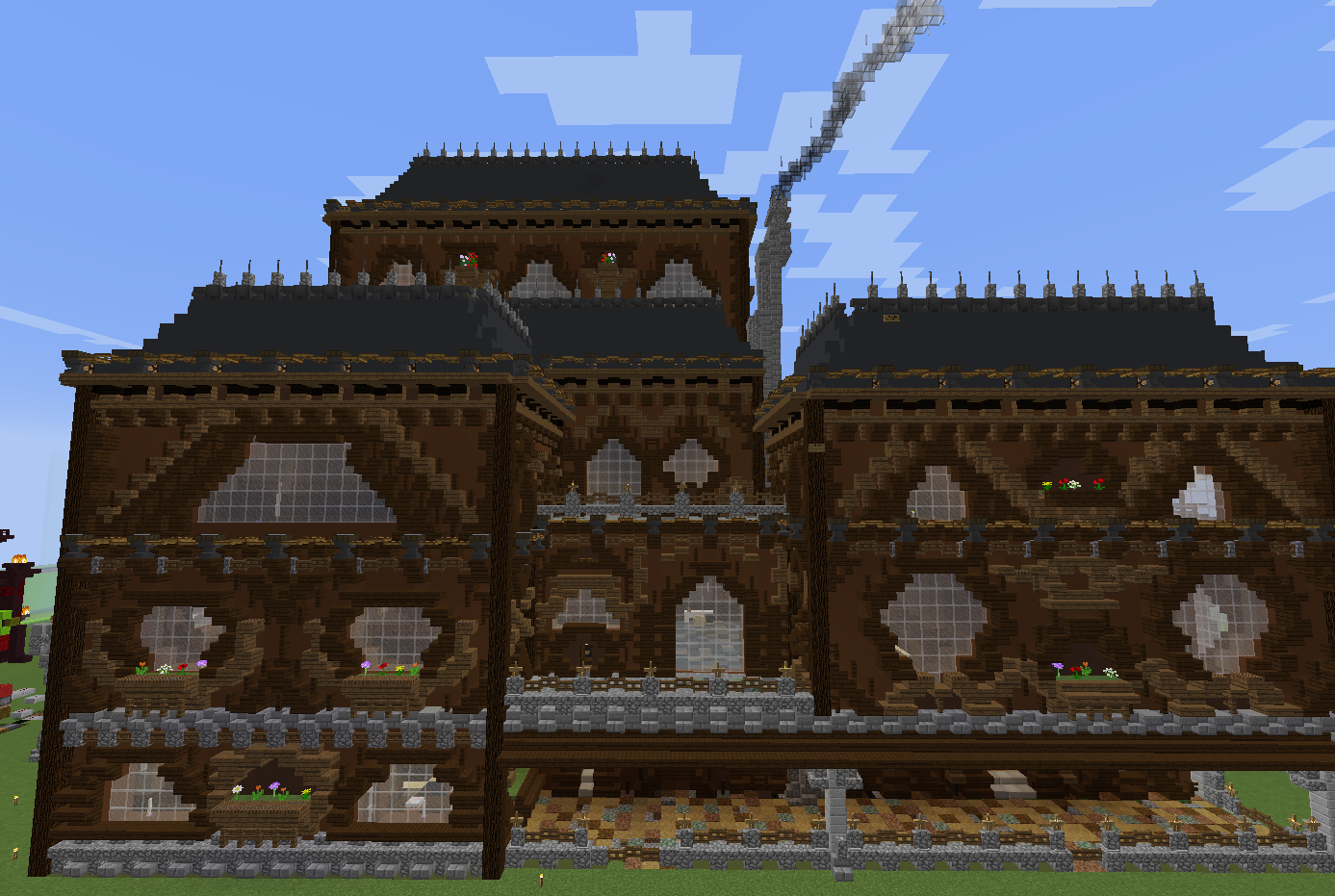 Woodland Mansion Transformation Side View Building Mansions