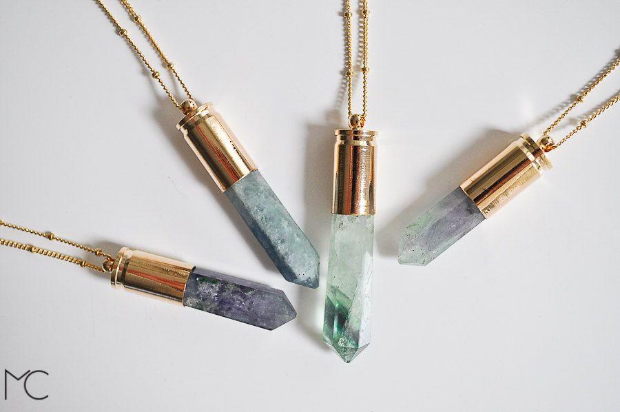Fluorite Necklace #necklace, #gold, #fluorite, #gemstone