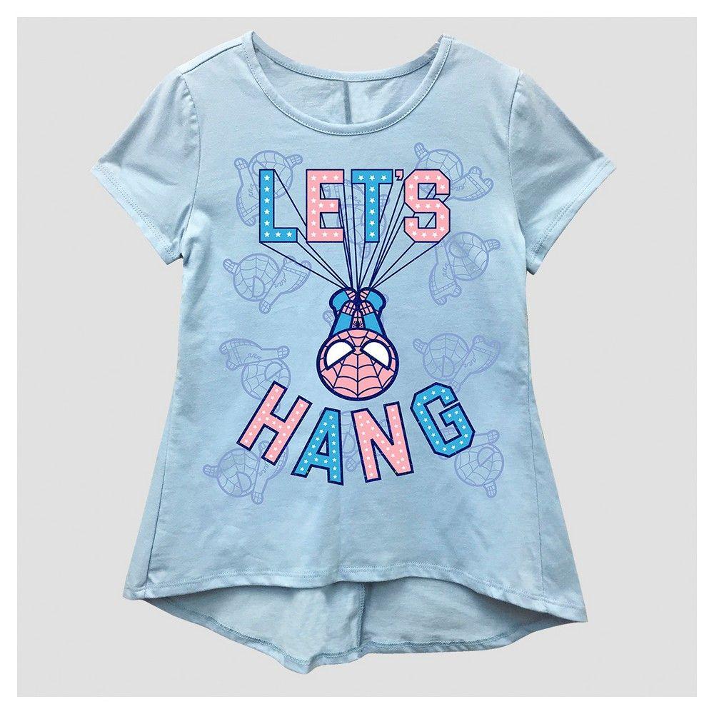 Girls  Marvel Spider-Man T-Shirt - Blue  581c05228566