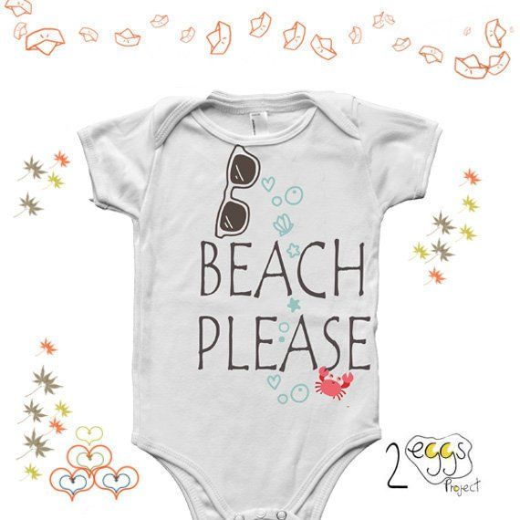"""c05bc46f8eda Hippie baby girl outfit–Funny baby onesie with quote """"Beach please ..."""