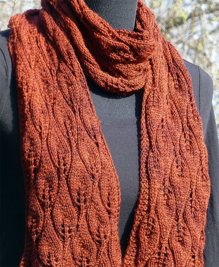 Free Knitting Pattern For Amy Pond Scarf This Leaf Lace Scarf Was
