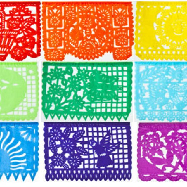 Papel Picado Mexican Party Decorations Mexican Party Paper Banners