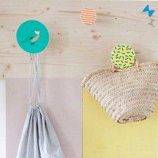 Patère en bois oiseau - décoration chambre enfant - Mimi'Lou