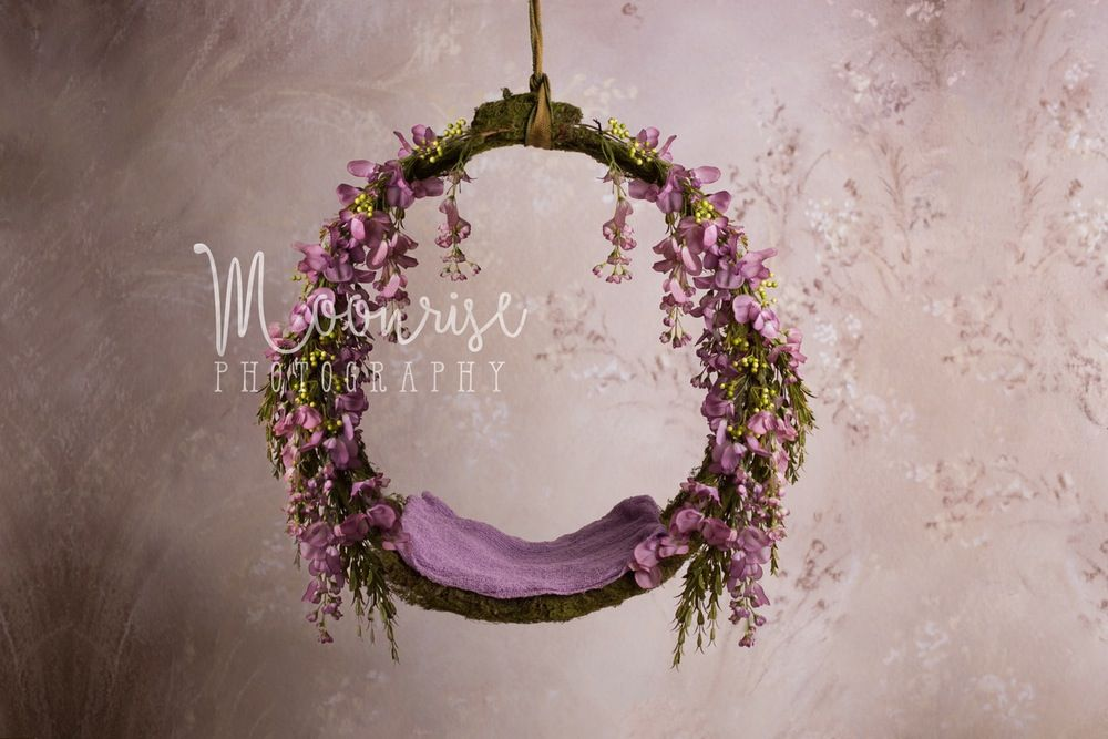 Image Of Forest Flora Moss Newborn Hoop W Backdrop Digital High Res Image Diy Photography