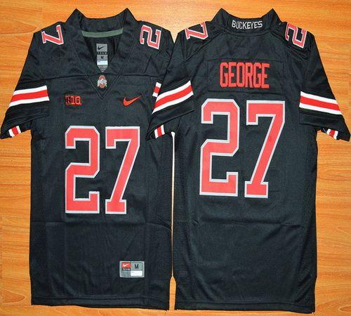 0aa0fe16bce834 Youth Ohio State Buckeyes Eddie George 27 NCAA Football Jersey - Blackout