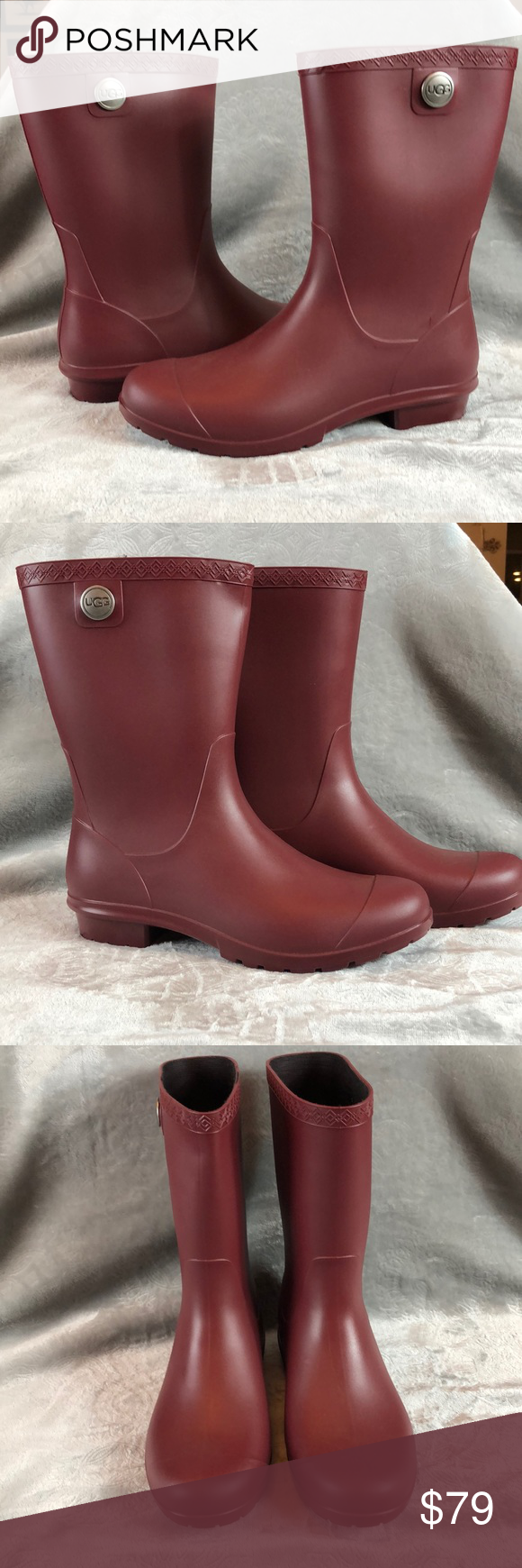 95f24638333 UGG Sienna Matt Rain boots size 8 Garnet NWT Brand new never worn ...