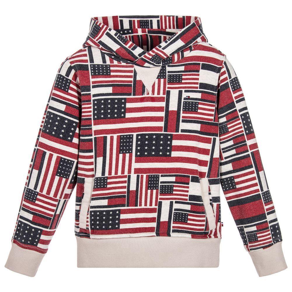 54e0d18c66 Tommy Hilfiger Boys printed flag sweatshirt available  Childrensalon.   TommyHilfiger  Boy  Flag  Sweatshirt