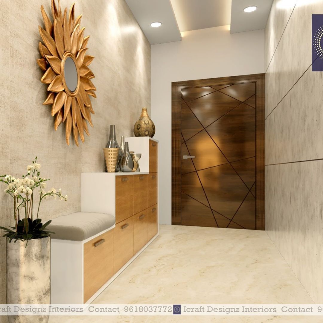 We Have Designed A 2bhk Flat For Mr Amar Kondapur Have A Look At Our Attractive Interior Designs Tot Flat Interior Design Foyer Design Door Design Interior