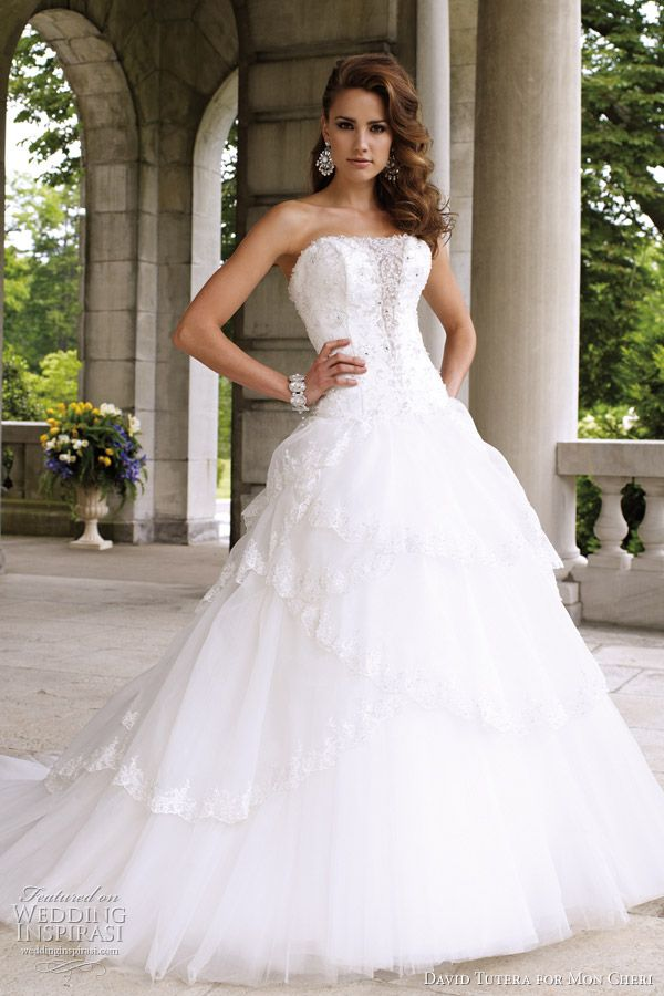 David tutera for mon cheri wedding dresses spring 2012 for David tutera beach wedding dresses