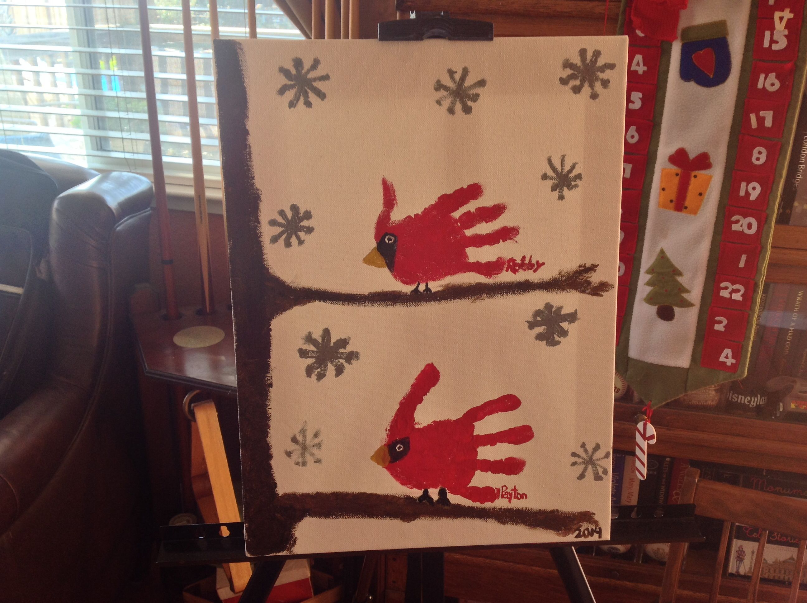 Our Attempt At Red Handprint Birds P Was Sure To