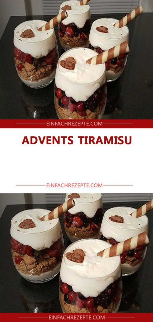 Advents tiramisu
