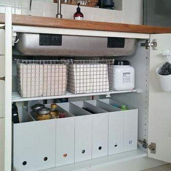 使いたいものをさっと取り出せる キッチン シンク下 のお手本収納術 キナリノ シンク下の収納 キッチン 収納 シンク下 シンク下