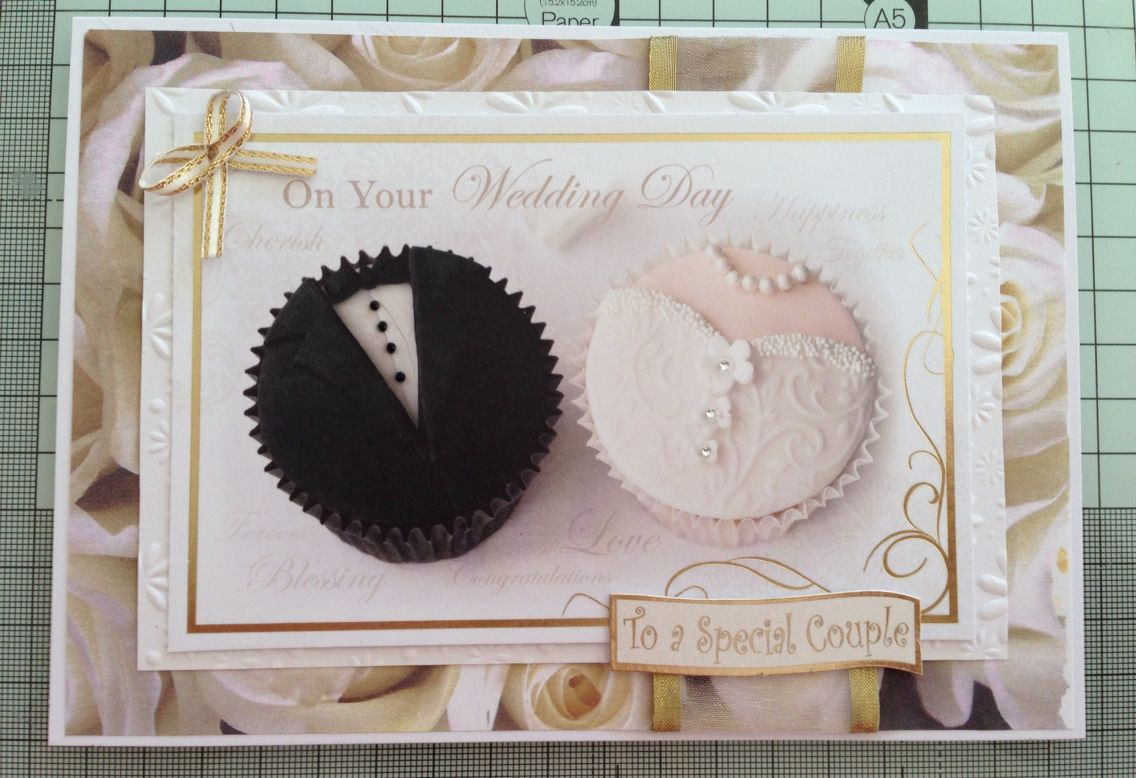 Handmade Wedding Card Fun Cupcake Topper Www Purplepawcrafts Com