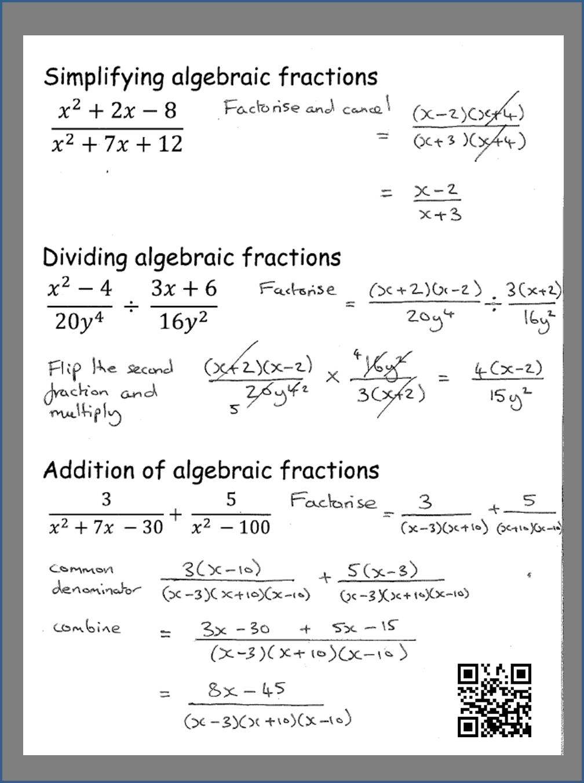 How To Simplify Algebraic Fractions Gcse Maths Physics And Math