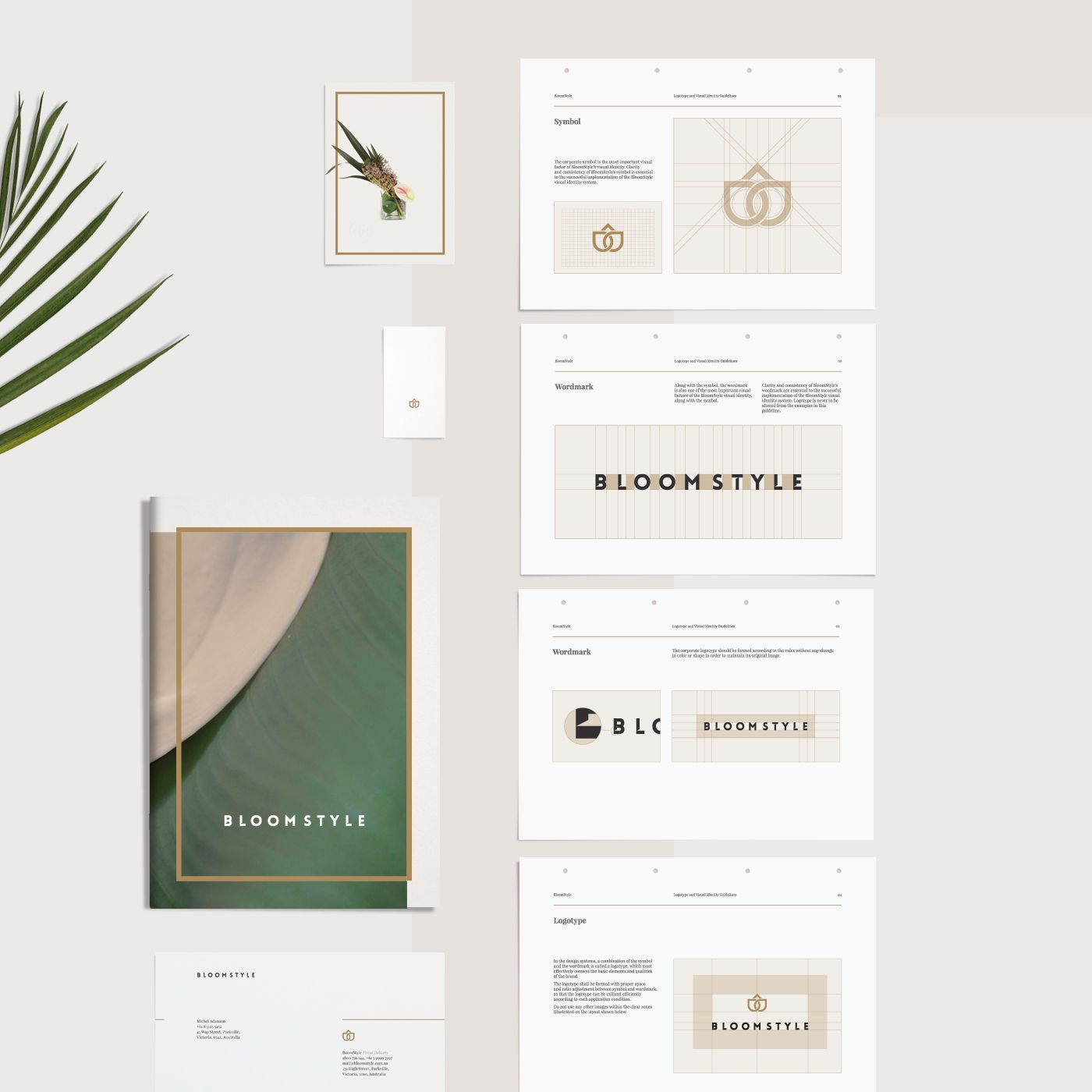 Bloomstyle visual identity on behance visual identity
