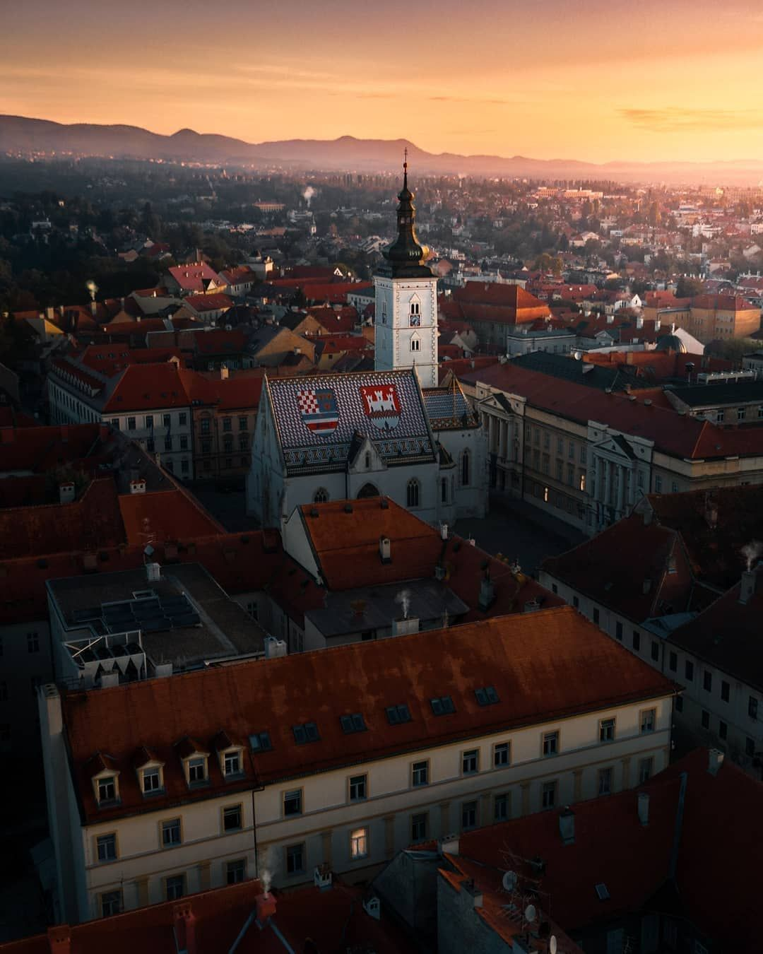 Croatia Full Of Life On Instagram Good Morning From Magical Zagreb By Watchluke The Colorful Church Of St Mark Is One Of The Zagreb Croatia Old Buildings