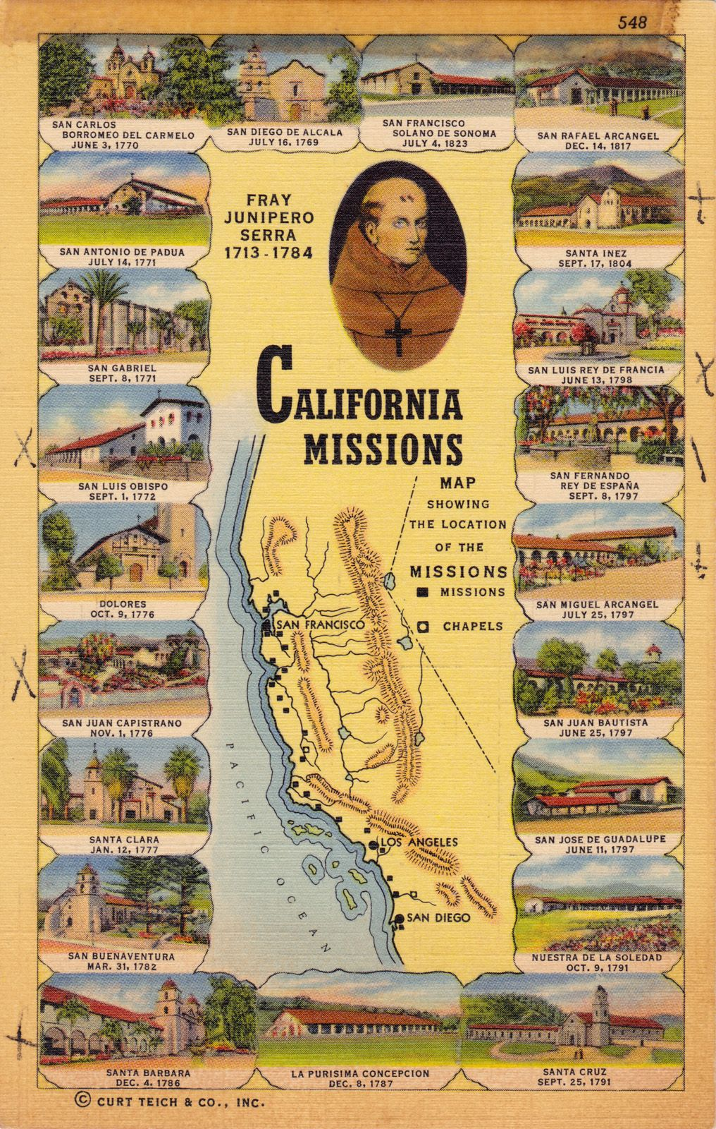 California Missions We Studied These In California History In - California missions map