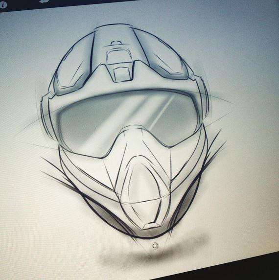 Dirt Bike Helmet Concept Sketch By Nick Chubb Sketch Book