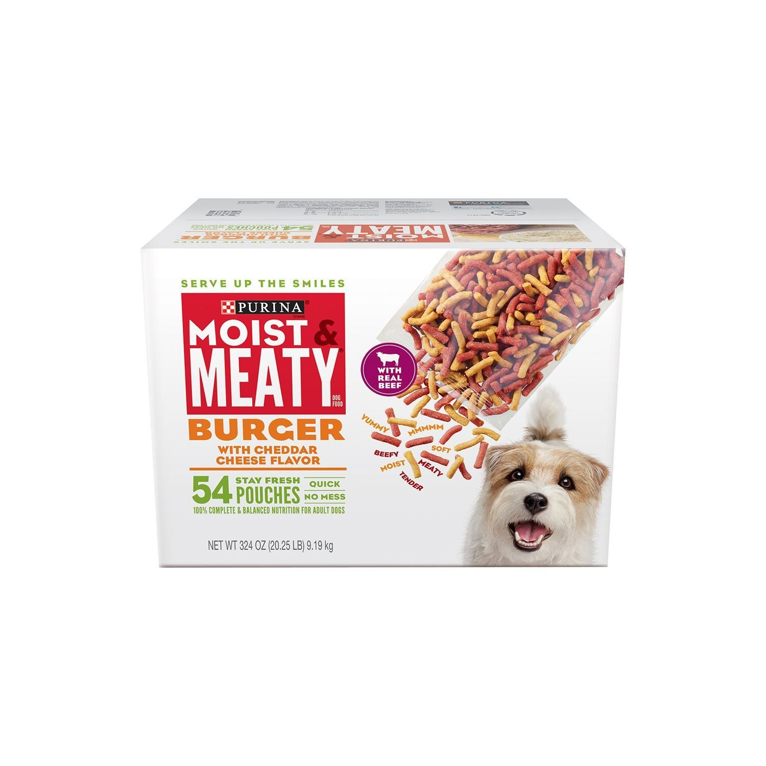 Purina Moist And Meaty Burger For Pets With Cheddar Cheese Flavor