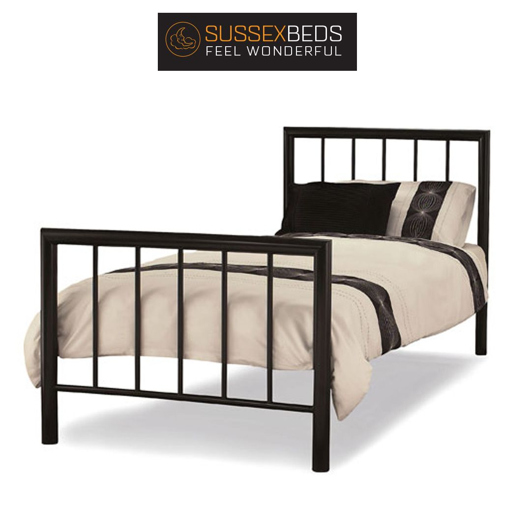 """3'0"""" Single Griffin Black Bedstead 