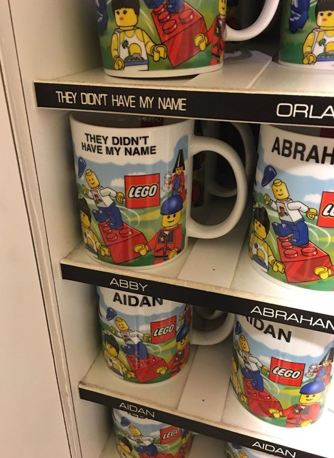 They finally had my personalized mug at the Lego Store! | Funny ...