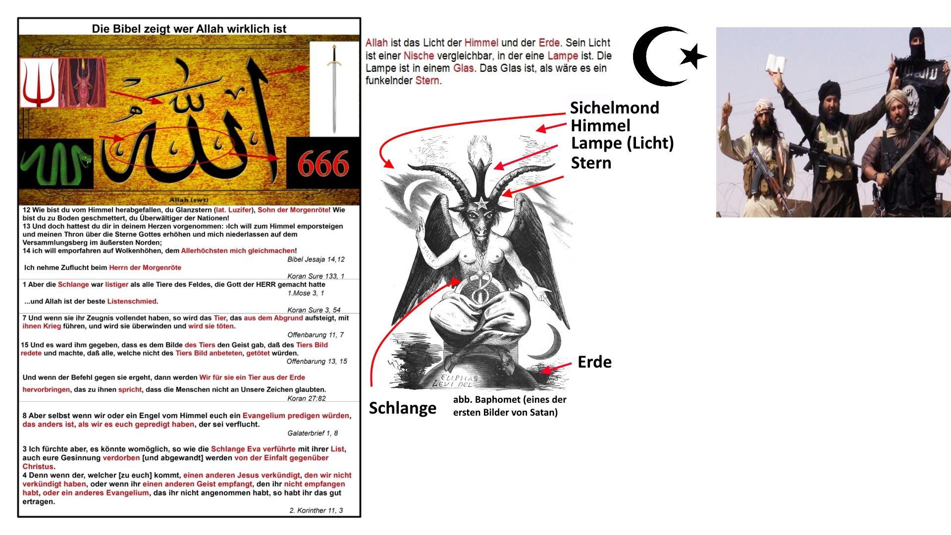 Wer Ist Allah Satan In Der Schlangenform Baphomet Die